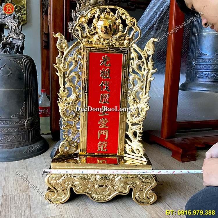 Bài Vị Thờ Cúng Bằng Đồng Mạ Vàng Cao 68cm