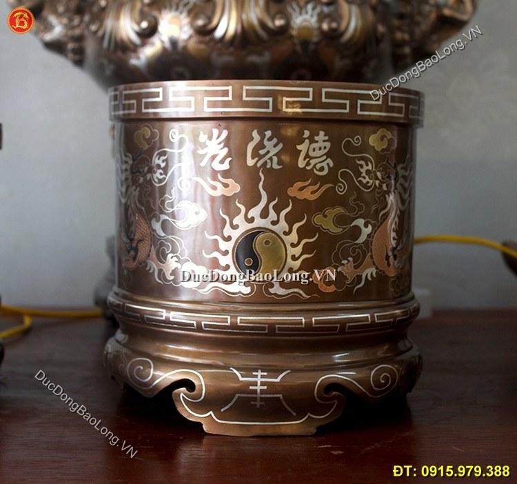 Bát Hương Đồng Khảm Tam Khí Thờ Cúng