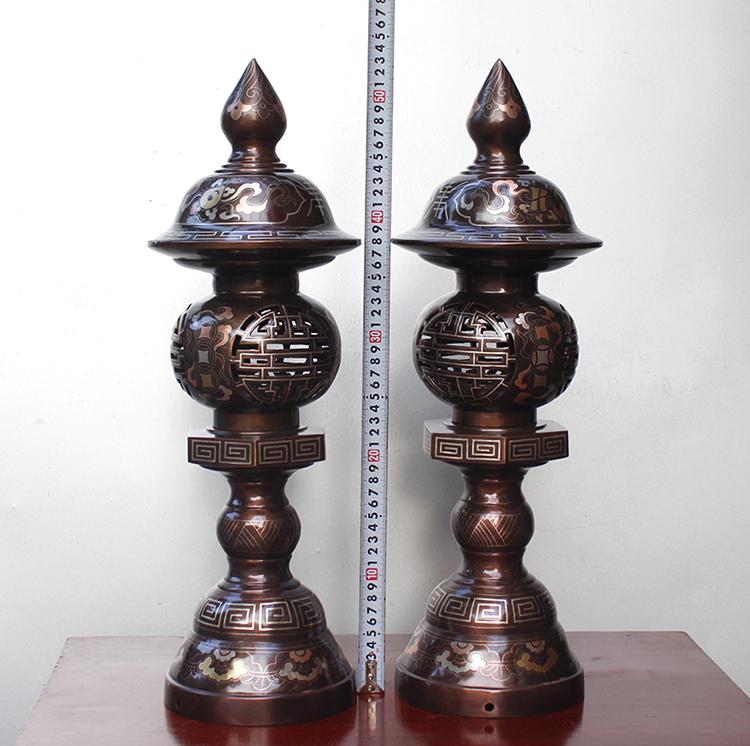 Đèn Thờ Khảm Tam Khí 52cm Hàng Khảm Kỹ