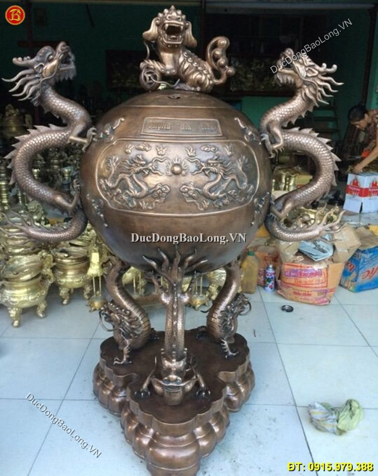 Đỉnh Đồng Tai Rồng Hun Giả Cổ Cao 1m60