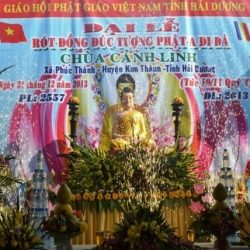 Hải Dương: Lễ đúc tượng Phật A Di Đà chùa Cảnh Linh
