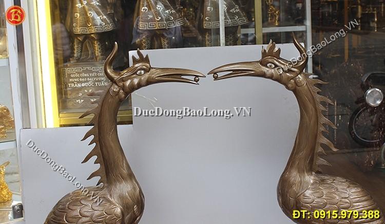 Hạc Đồng Thờ Cúng Cao 1m27