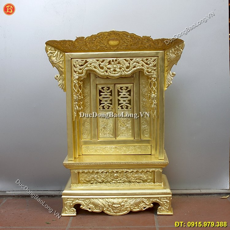 Khám Thờ Bằng Đồng Vàng Gò Cao 68cm