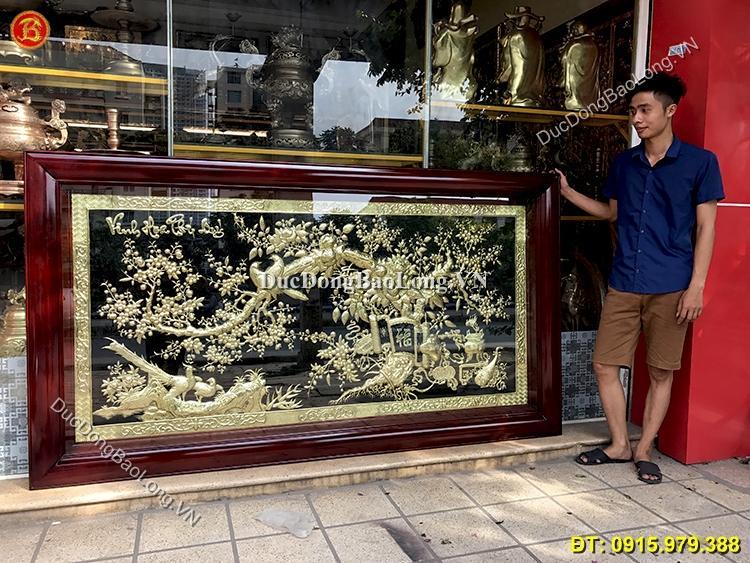 Tranh Vinh Hoa Phú Quý 2m31 x 1m27 Bằng Đồng