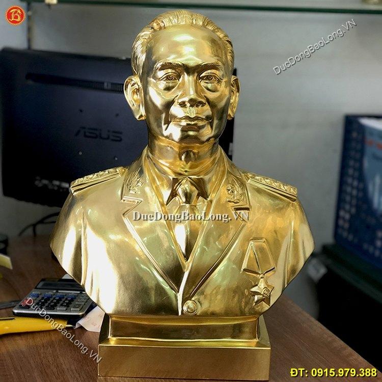Tượng Đồng Võ Nguyên Giáp Dát Vàng Cao 45cm