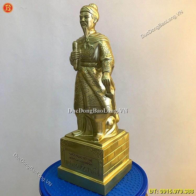 Tượng Trần Hưng Đạo Bằng Đồng Cao 42cm