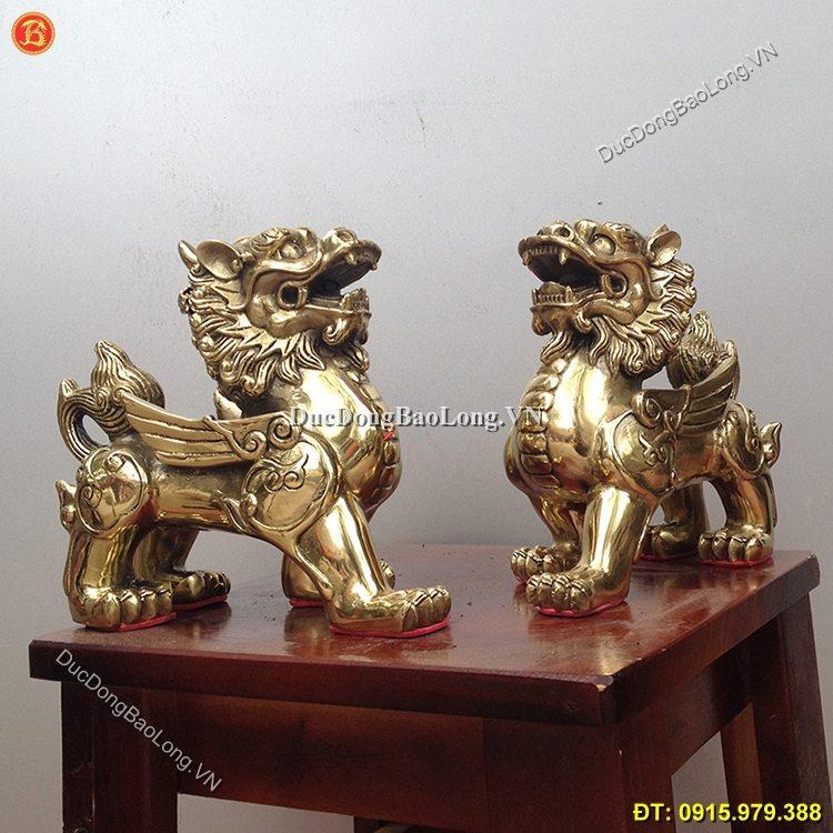 Tỳ Hưu Bằng Đồng Phong Thủy Dài 15cm