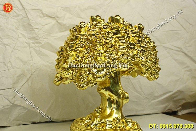 Cây Tiền Dát Vàng 9999 Chuẩn Đẹp Cao 27cm