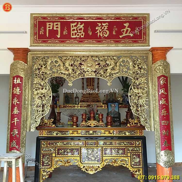Cửa Võng Bằng Đồng Dài 2m35 Treo Phòng Thờ