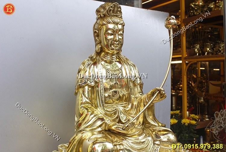 Tượng Đại Thế Chí Bồ Tát Bằng Đồng Cao 68cm