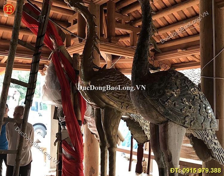 Hạc Đồng Thờ Cúng Đình Chùa 2m81