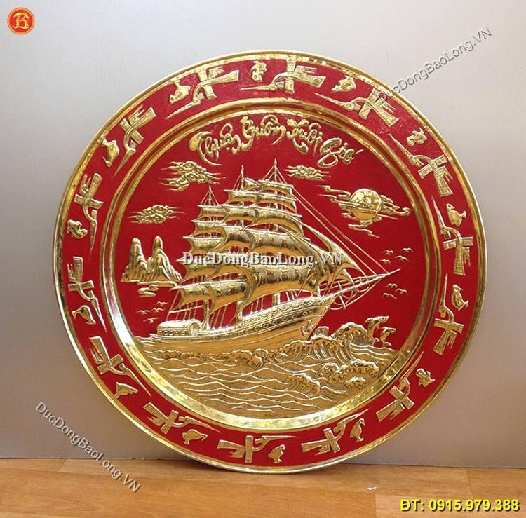 Mâm Đồng Thuận Buồm Xuôi Gió ĐK 61cm