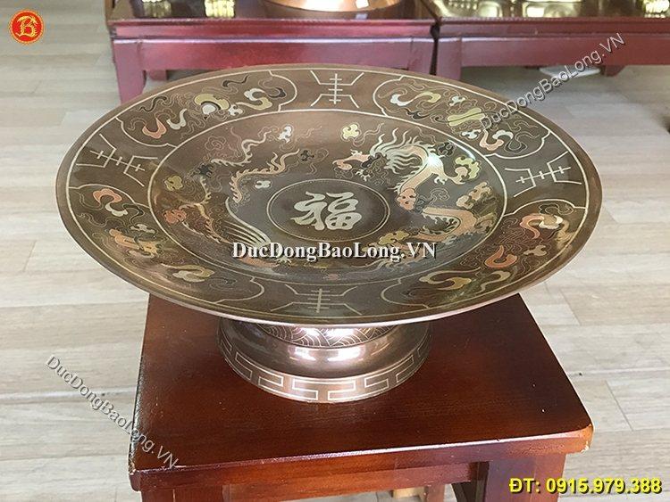 Mâm Bồng Ngũ Quả Khảm Tam Khí 30cm Hàng Kĩ