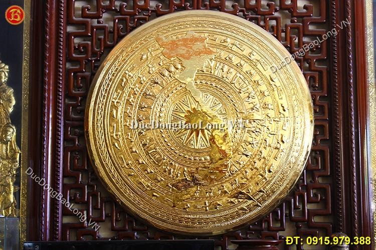 Mặt Trống Mạ Vàng 24k Treo Tường ĐK 60cm