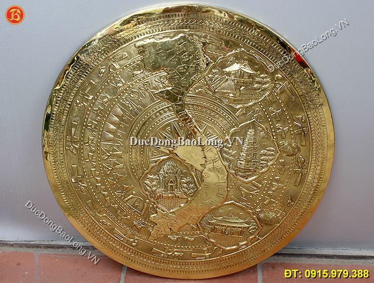 Mặt Trống Bản Đồ Gò Đồng Vàng ĐK 60cm