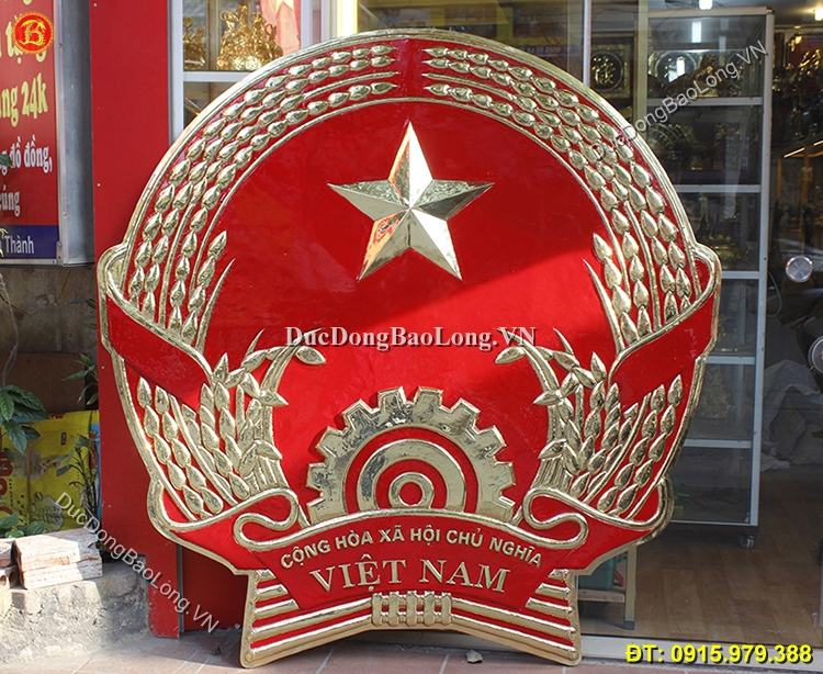 Quốc Huy Bằng Đồng Cao 1m6 Cho Tỉnh Lạng Sơn