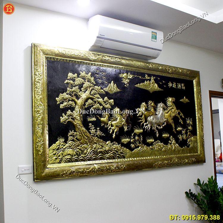 Tranh Đồng Bát Mã 2m31 x 1m27 Khung Đồng