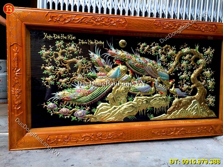 Tranh Đồng Công Mai 2m3 x 1m2 Hàng Tinh Xảo