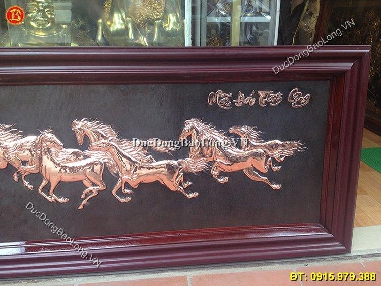Tranh Bát Mã Bằng Đồng Dài 1m1 x 61cm
