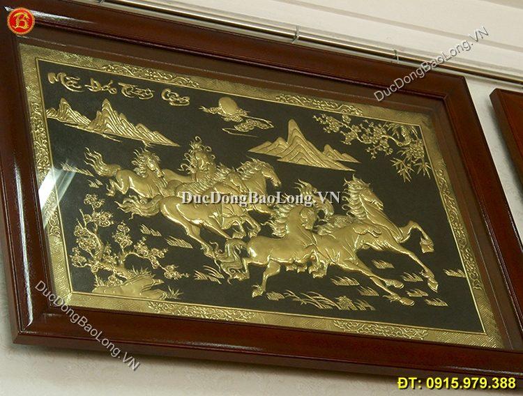 Tranh Đồng Ngựa Đẹp Dài 1m07 x 75cm