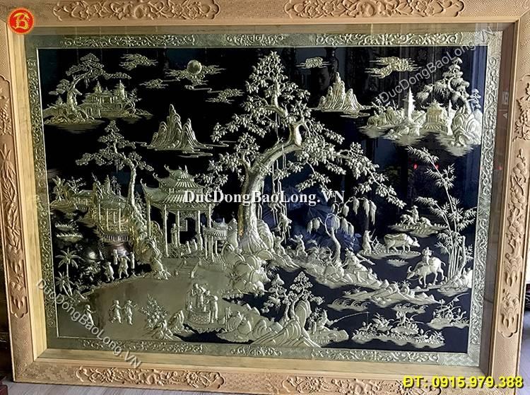 Tranh Đồng Quê Bằng Đồng 2m31