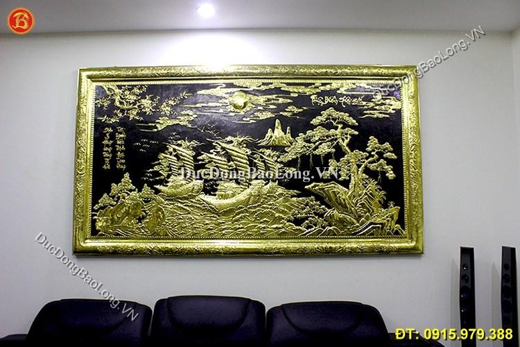 Tranh Thuận Buồm Xuôi Gió Bằng Đồng 2m3