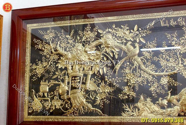 Tranh Vinh Hoa Phú Quý Bằng Đồng 1m97 x 1m07