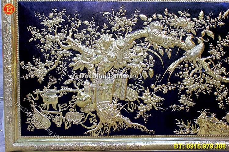 Tranh Đồng Vinh Hoa Phú Quý Khung Đồng 2m3