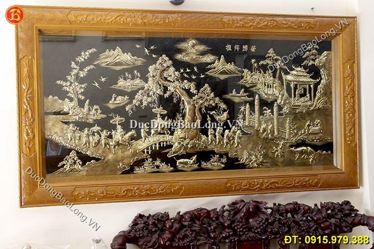Tranh Đồng Vinh Quy Bái Tổ 2m31 x 1m2