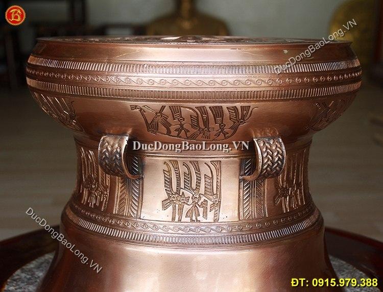 Quả Trống Đồng Ngọc Lũ ĐK 30cm Tinh Xảo