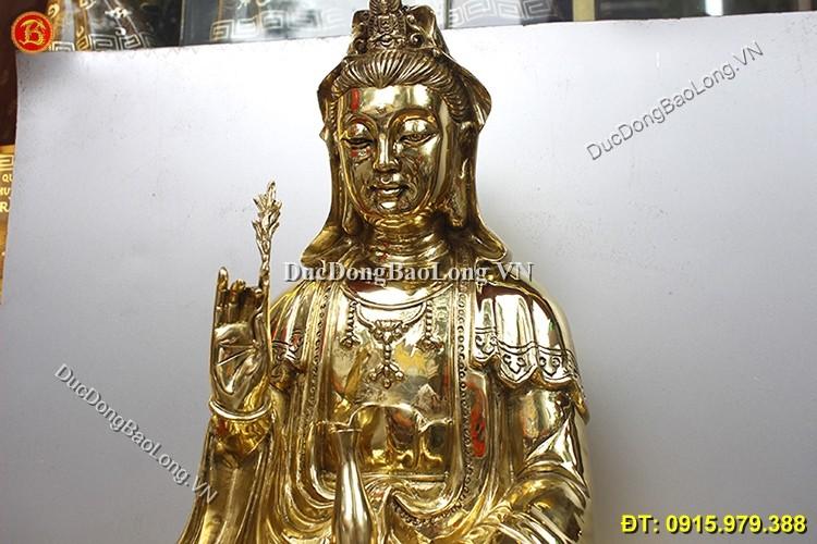 Tượng Đồng Quan Âm Bồ Tát Cao 68cm