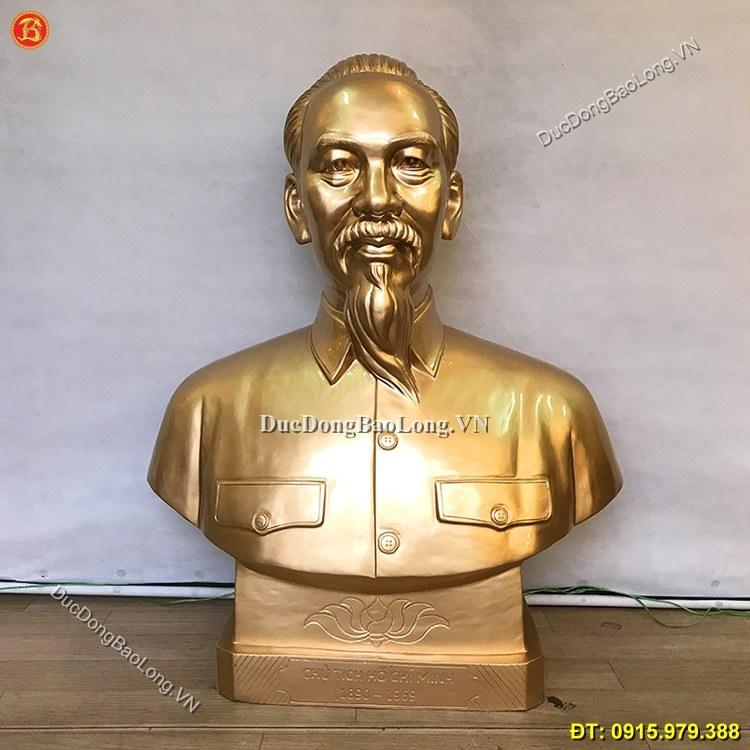 Tượng Bác Hồ Bằng Đồng Cao 89cm