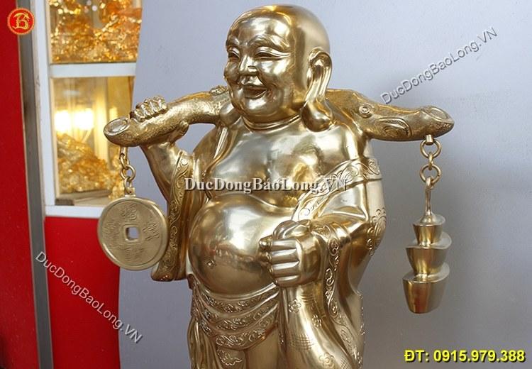 Tượng Đồng Phật Di Lặc Đứng Cao 72cm