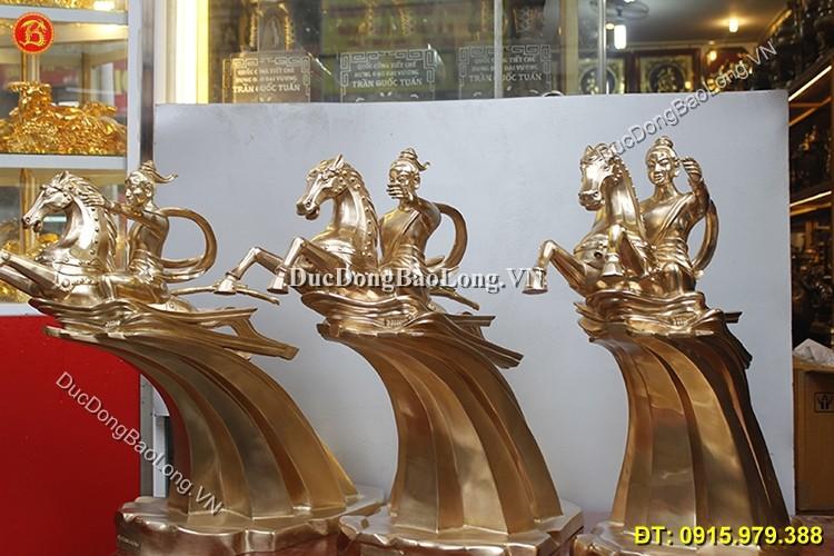 Tượng Đồng Thánh Gióng Cao 63cm Chuẩn Đẹp