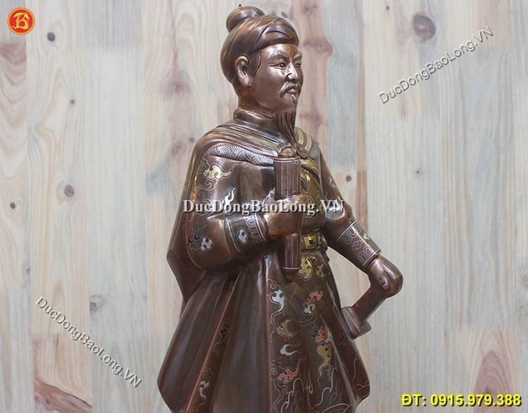 Tượng Trần Hưng Đạo Khảm Tam Khí Cao 70cm