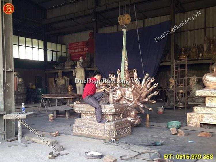 Tượng Phật Nghìn Mắt Nghìn Tay Bằng Đồng