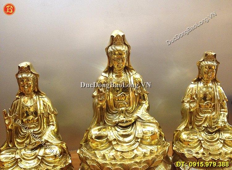 Tượng Phật Bà Bằng Đồng Vàng Đúc Thủ Công