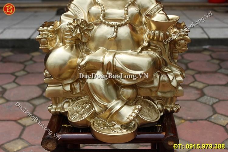 Tượng Phật Di Lặc Ngồi Vắt Chân Cao 42cm