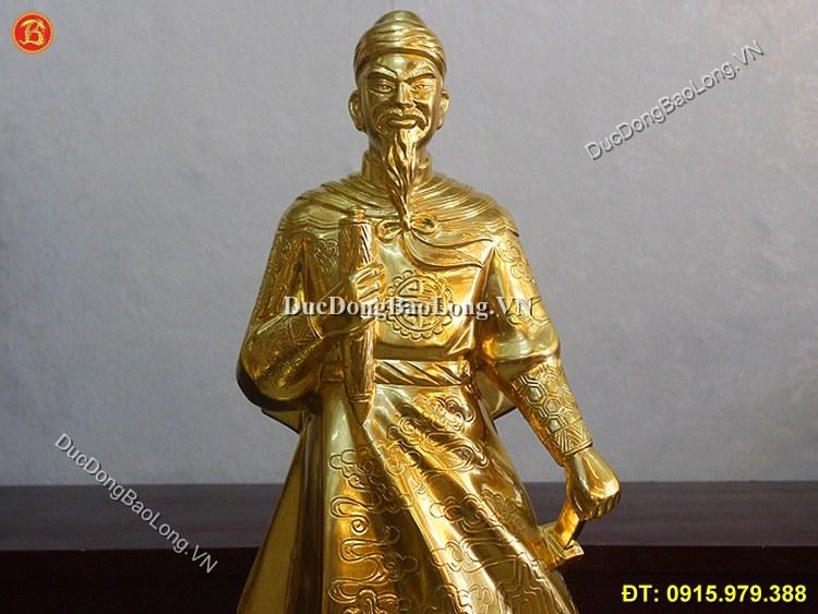 Tượng Trần Quốc Tuấn Dát Vàng Cao 81cm