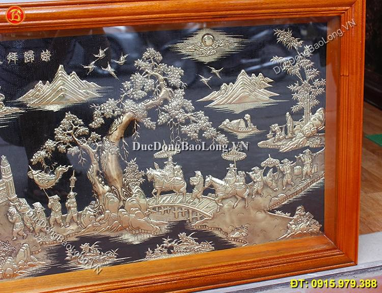 Tranh Vinh Quy Bái Tổ Bằng Đồng 1m27 x 61cm