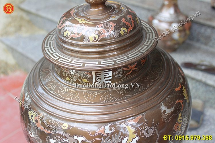 Chóe Đồng Khảm Ngũ Sắc 55cm