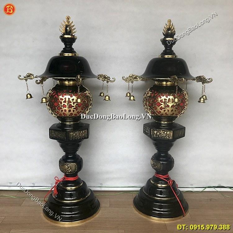 Đèn Thờ Bằng Đồng Cắm Điện 90cm