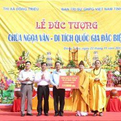 Lễ đúc tượng Tam Tổ Trúc Lâm chùa Ngọa Vân