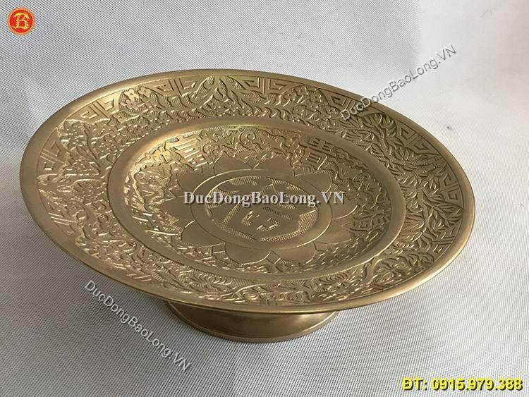 Mâm Bồng Bằng Đồng 30cm
