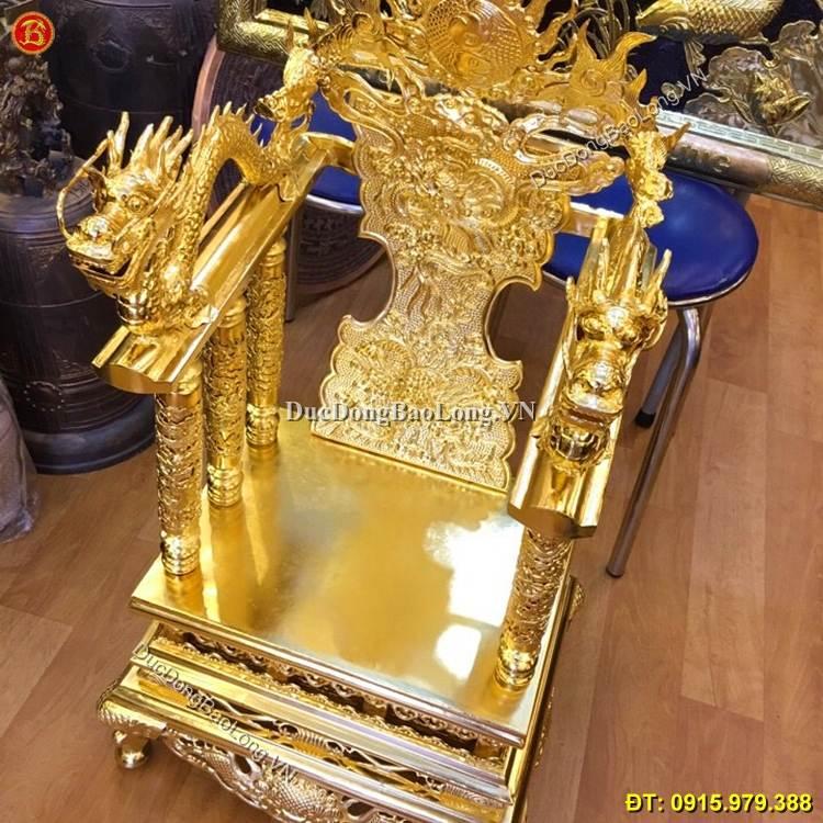 Ngai Thờ Bằng Đồng Mạ Vàng 24k Cao 68cm