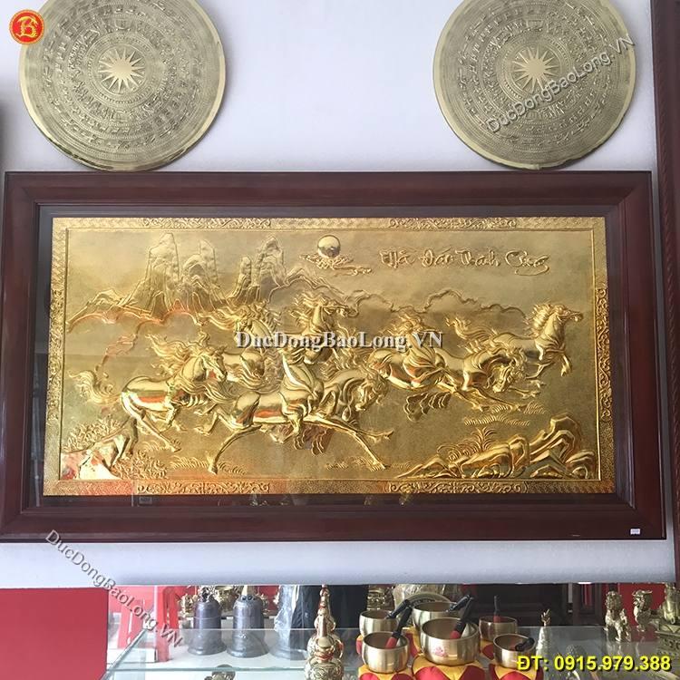Tranh Đồng Bát Mã Mạ Vàng 24k Dài 1m55 x 88cm