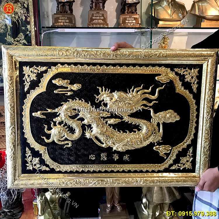 Tranh Chữ Tâm Hóa Rồng Khung Đồng