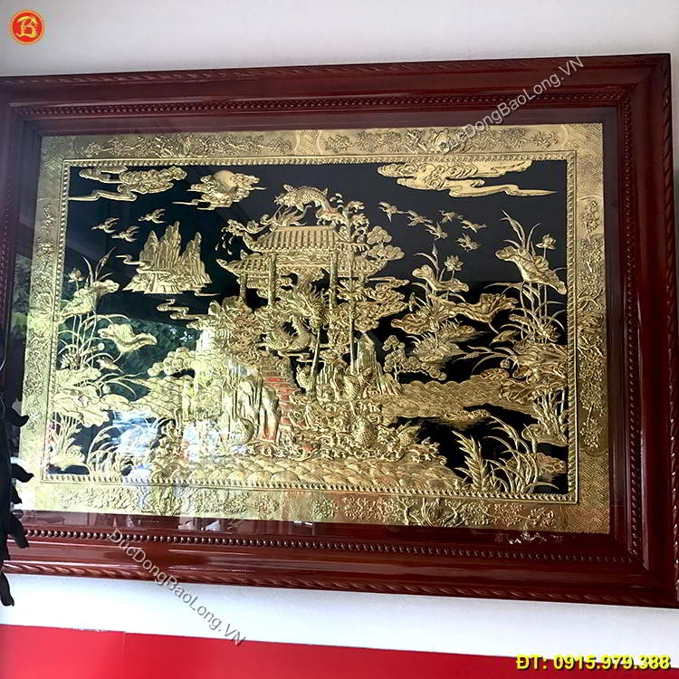 Tranh Đồng Cá Chép Hóa Rồng Dài 1m47