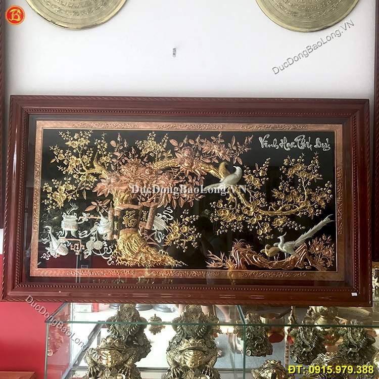Tranh Vinh Hoa Phú Quý Mạ Tam Khí 1m55 x 88cm