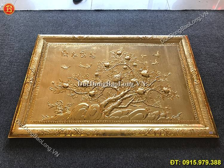 Tranh Vinh Hoa Phú Quý Mạ Vàng 24k Dài 1m27